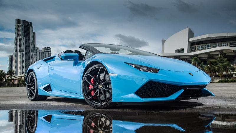 蓝色高级豪华跑车高清壁纸