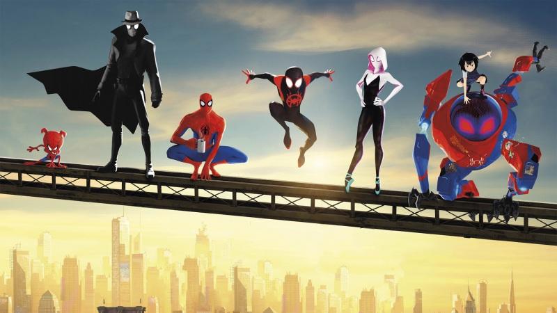 卡通蜘蛛侠平行世界图